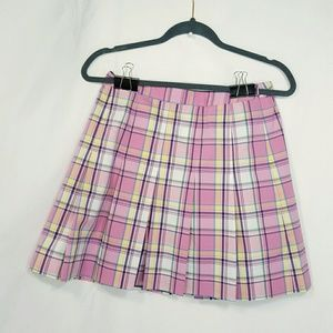 Sz 2 Lilly Pulitzer Pleated Plaid Miniskirt